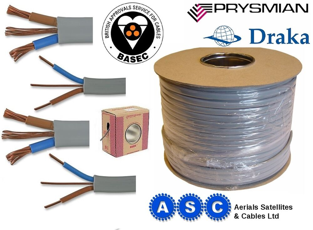 Electric Socket Cable Wire 2 5mm T Amp E Twin And Earth 5m 10m