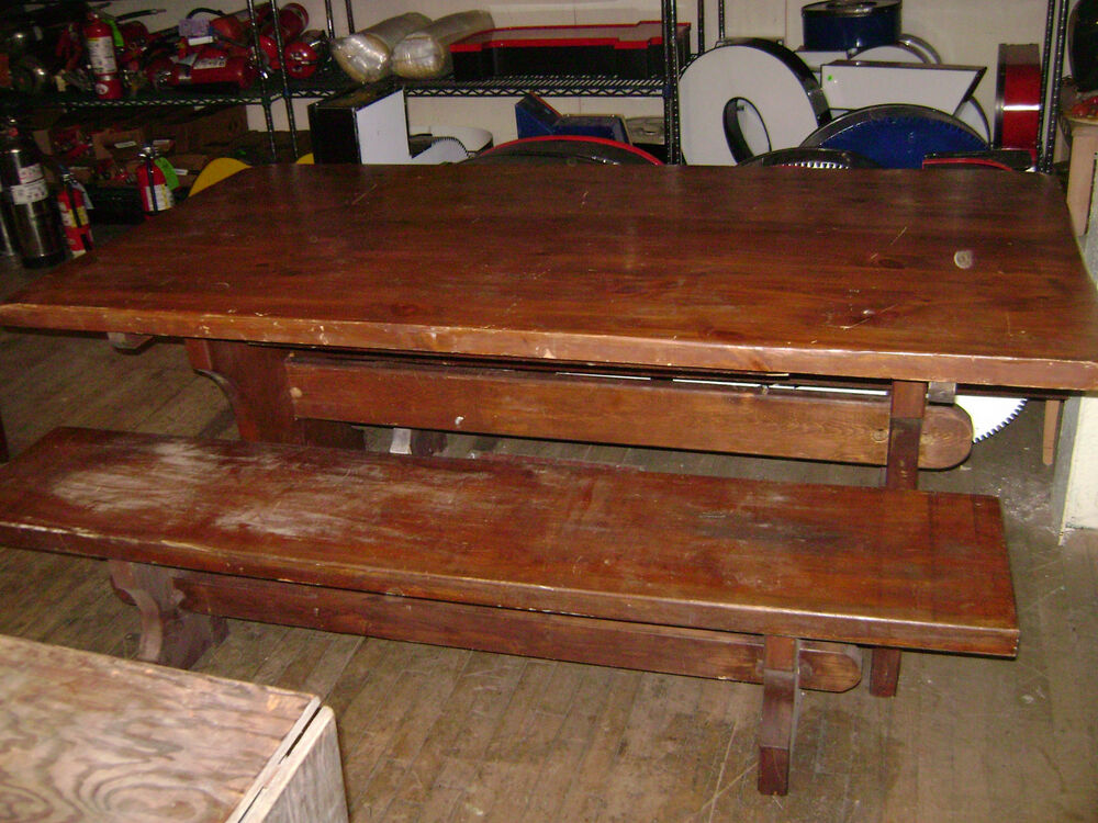 used wooden trestle tables sale 2
