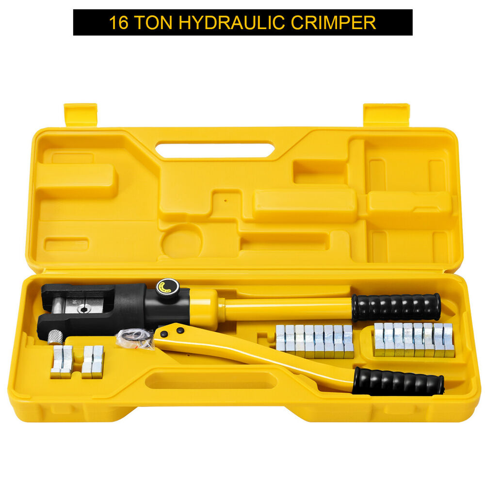 16 Ton Hydraulic Wire Terminal Crimper Battery Cable Lug