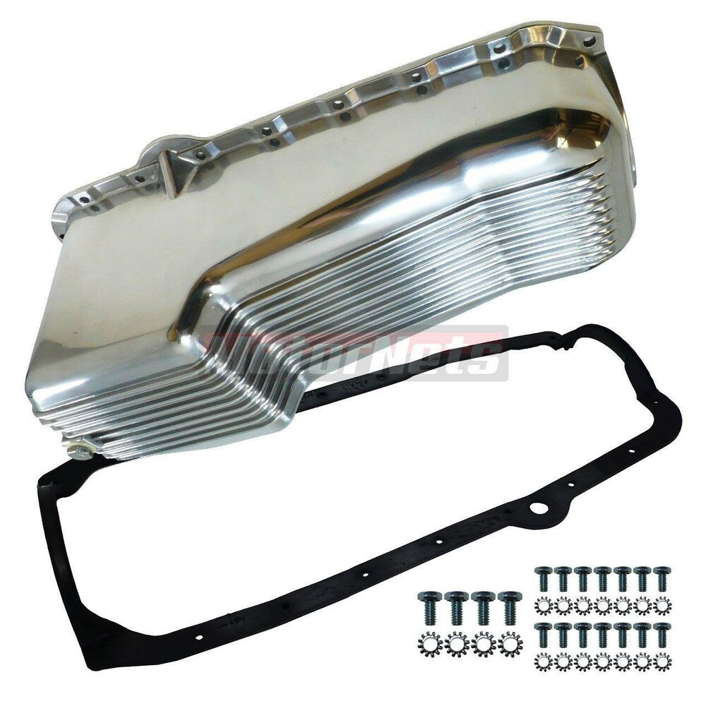 SBC Finned Aluminum Oil Pan W/ Gasket Bolts 283-350 79-86