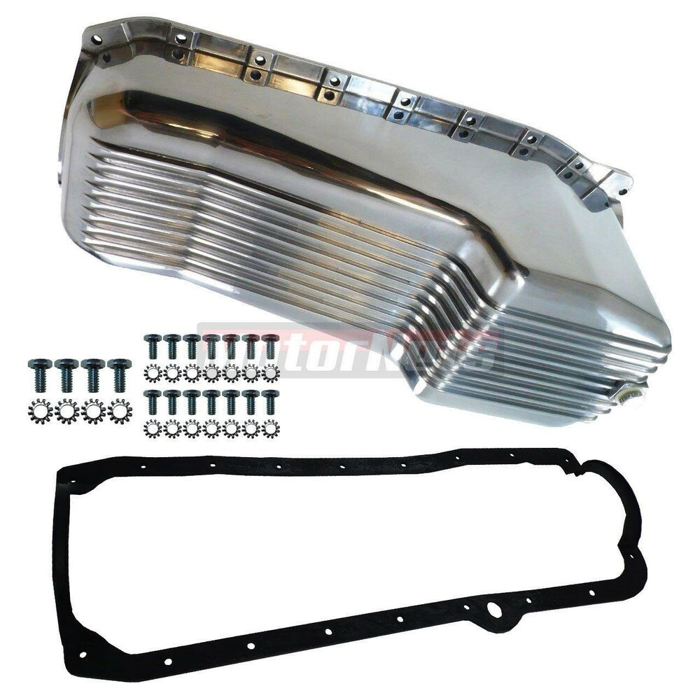 SBC Finned Aluminum Oil Pan W/ Gasket Bolts 283-350 86-Up