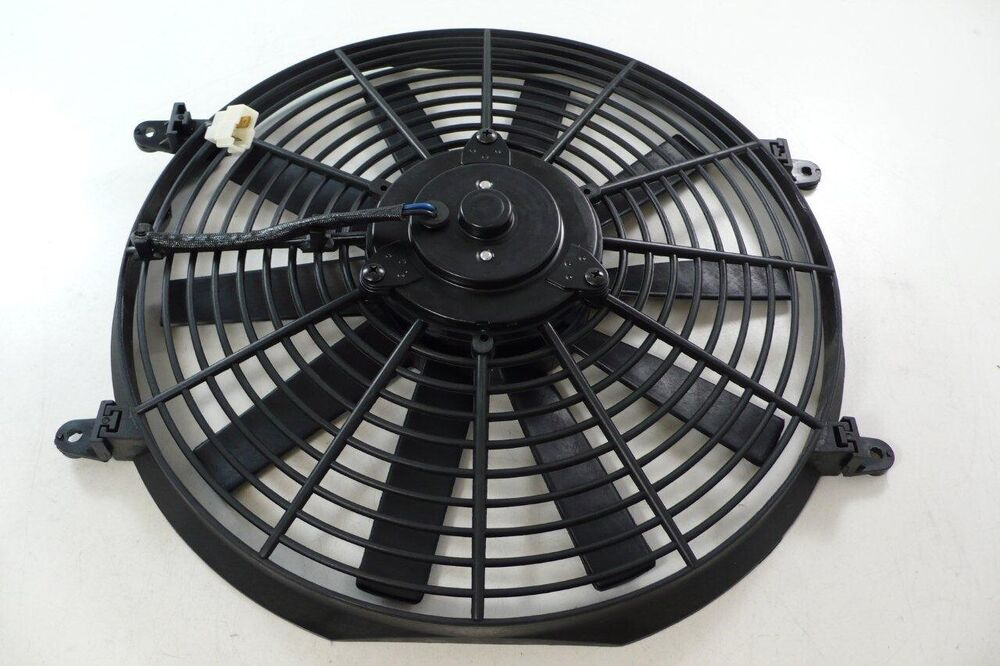 High Cfm 12v Cooling Fans : Quot radiator electric cooling fan straight flat blade