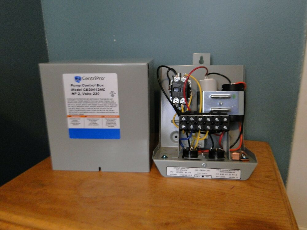 Goulds Centripro 2hp Deluxe Mag Starter Control Box