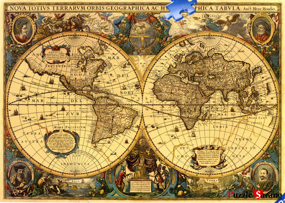 Ravensburger 5000 piece jigsaw puzzles world maps for Custom 5000 piece puzzle