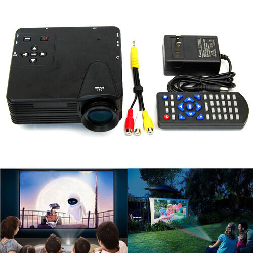 Hd Home Theater Multimedia Lcd Led Projector Dvd Tv: Home Theater Multimedia LED LCD Projector HD 1080P HDMI PC