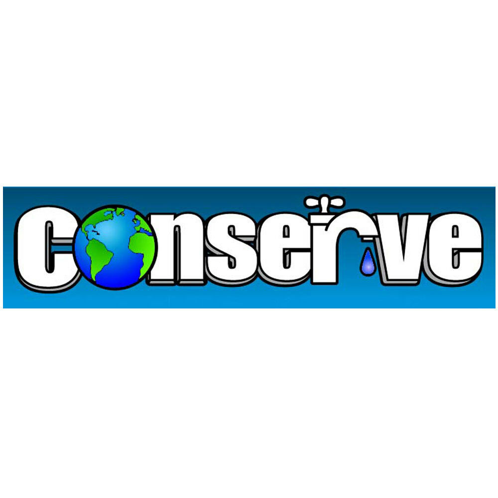 bmcs093 conserve water drought environmental bumper sticker magnet ebay. Black Bedroom Furniture Sets. Home Design Ideas