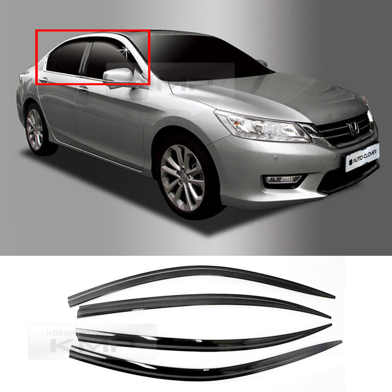 Smoke Window Vent Viors Rain Guards Sun Shield A162 For HONDA 2012 - 2016 Accord 8809510758348 ...