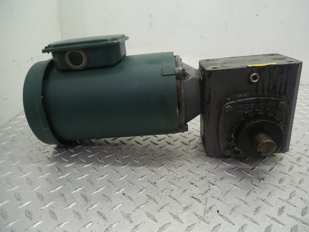 Reliance electric duty master a c motor w boston gear 700 for Master electric gear motor