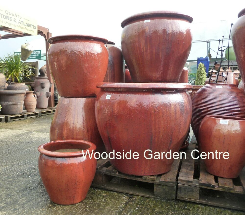 Extra large terracotta pots - Extra Large Pots And Large Copper Red Glazed Pot Tree Garden Planter