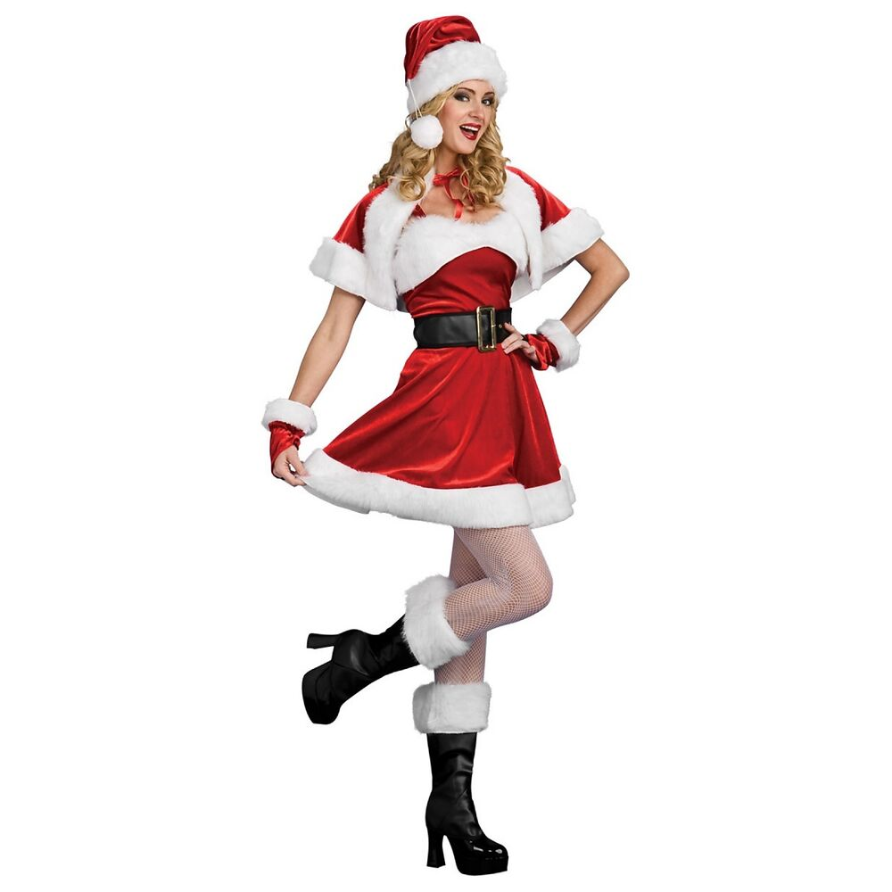 Mrs claus costume adult womens sexy santa outfit christmas fancy dress