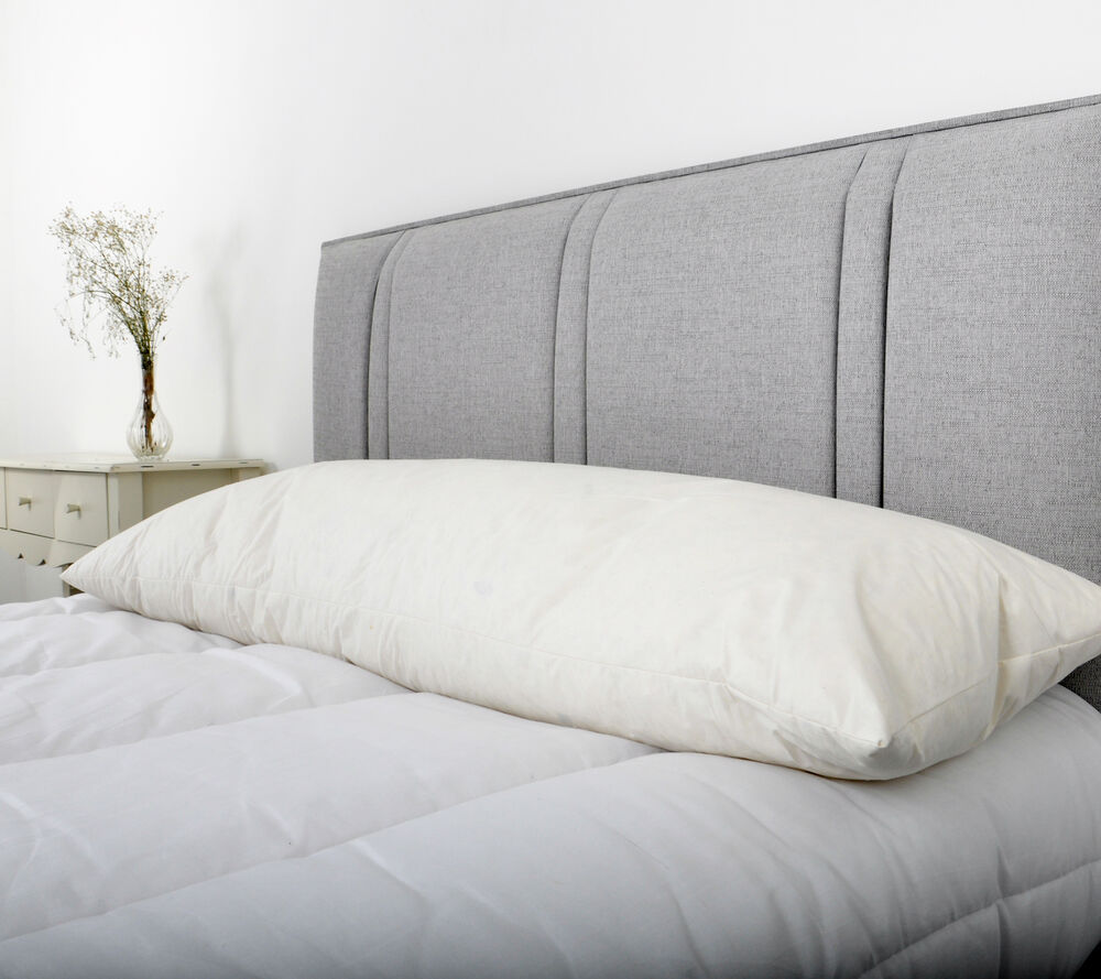 Double Bed Size Duck Feather Bolster Pillow With Free