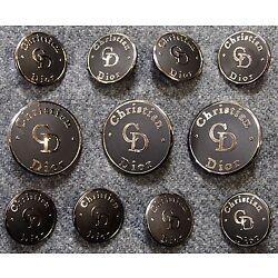 Kyпить Christian Dior Silver Metal Blazer Buttons Set на еВаy.соm