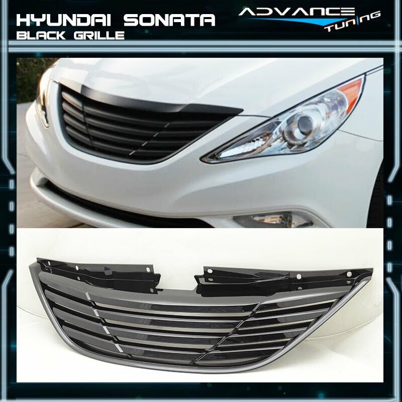 Fit For 11 14 Hyundai Sonata Front Grille Grill Horizontal Black Ebay