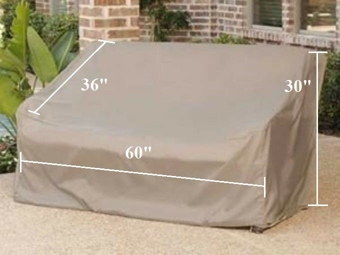 "Patio Garden Love Seat Storage Cover Up to 60"" L Outdoor Furniture Cover New"