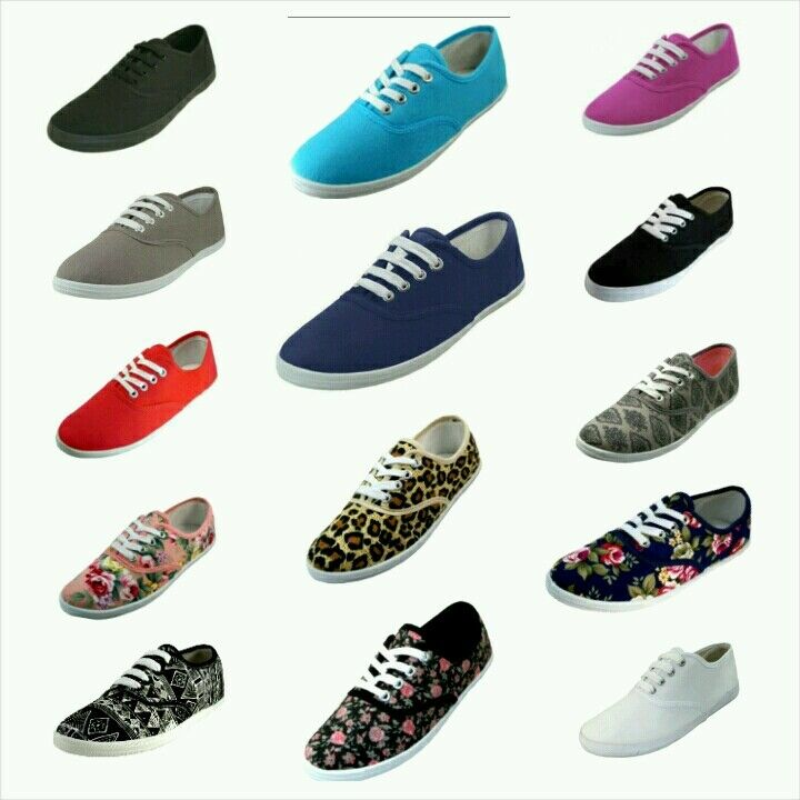 canvas plimsoll shoes lace up sneakers sizes 5