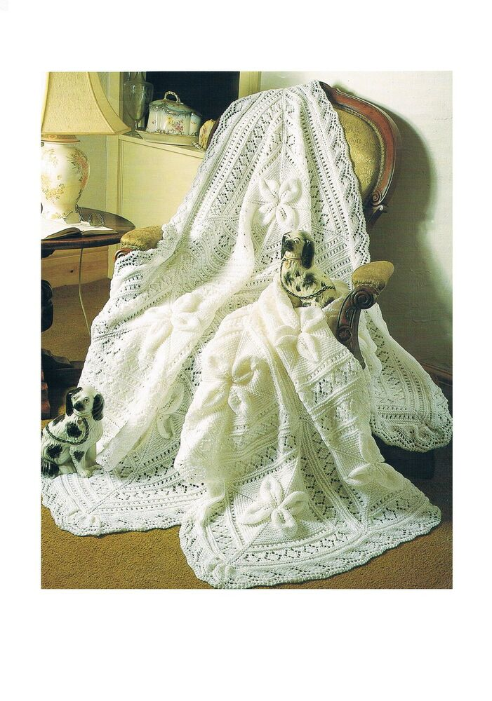 Knitting Ring Patterns : Vintage Knitting Patterns Babys Shawl and Cot Blanket PATTERNS ONLY DK ?...