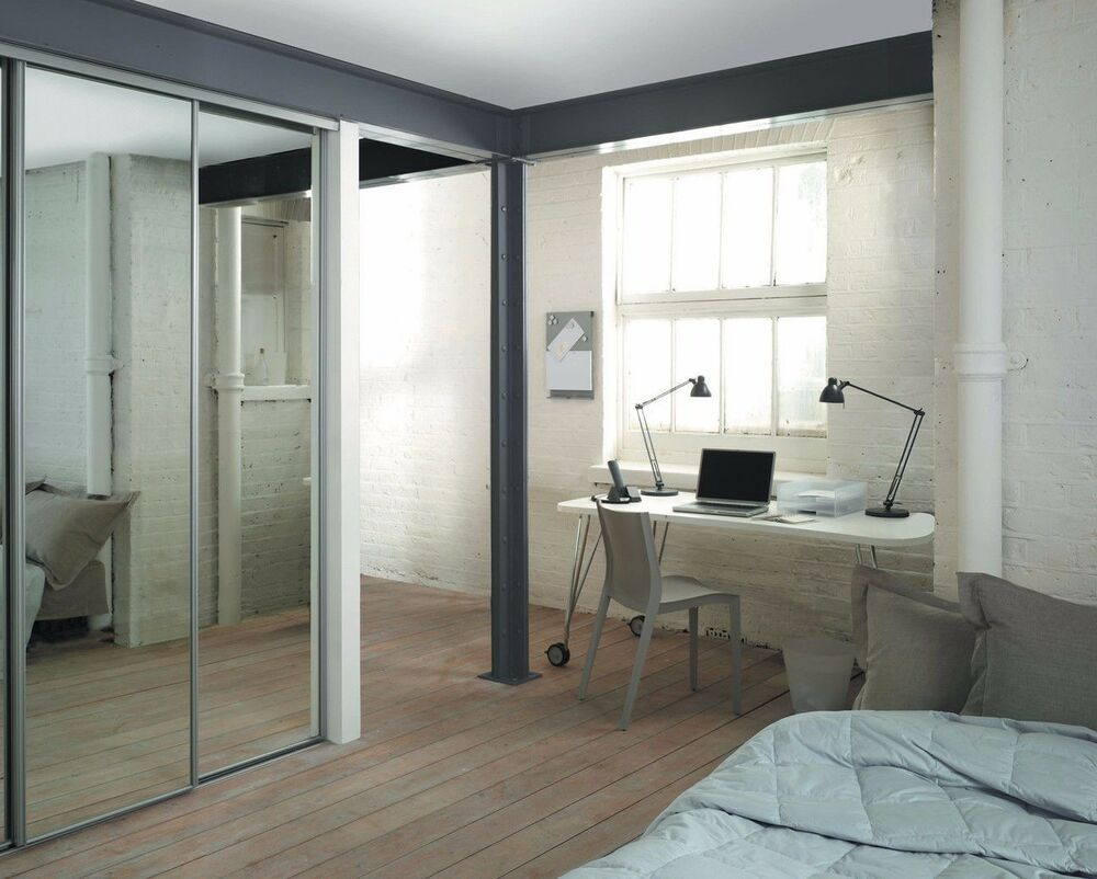 door silver framed mirror spacepro heritage sliding wardrobes ebay