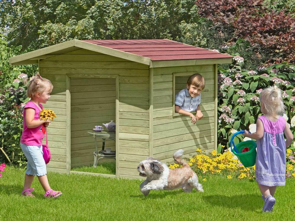kinderhaus henrik kinderspielhaus gartenhaus holz spielhaus holzhaus f r kinder ebay. Black Bedroom Furniture Sets. Home Design Ideas
