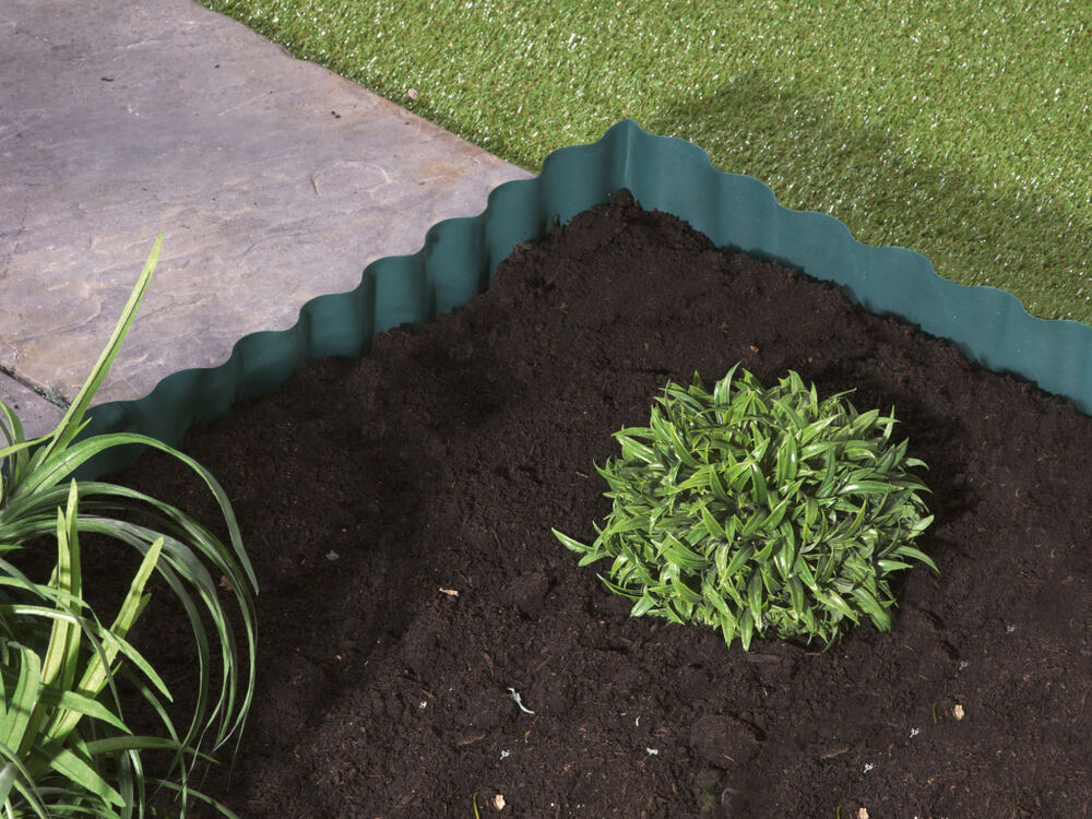 Plastic garden grass lawn edge edging border fence wall for Path and border edging