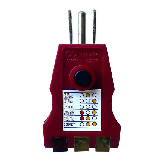 Ground Fault Indicator Testers : Eagle gfci ground fault outlet tester receptacle circuit