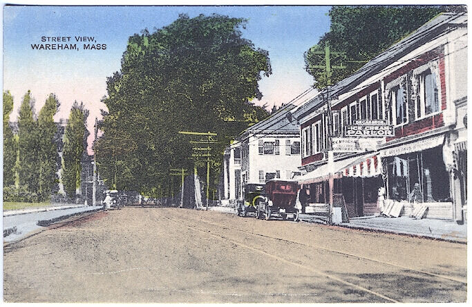 Wareham ma street view ice cream sign storefronts old cars for Classic house of pizza marlborough ma