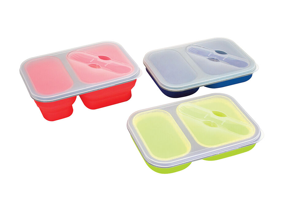 Yellowstone Large Silicone Pack Away Lunch Box Folds