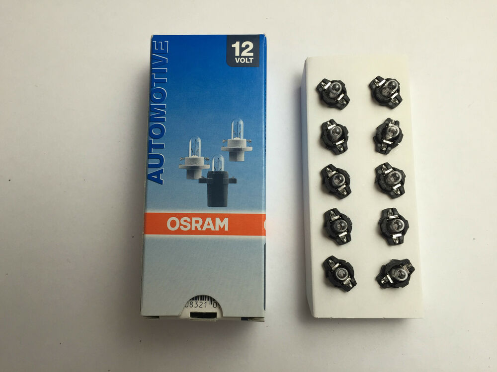10 x osram lampe 12v 1 2w b8 3d w1 2w innenbeleuchtung 2721mf8 gl hlampe lampe ebay. Black Bedroom Furniture Sets. Home Design Ideas