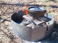 """30"""" Fire Ring with Swing Grate"""