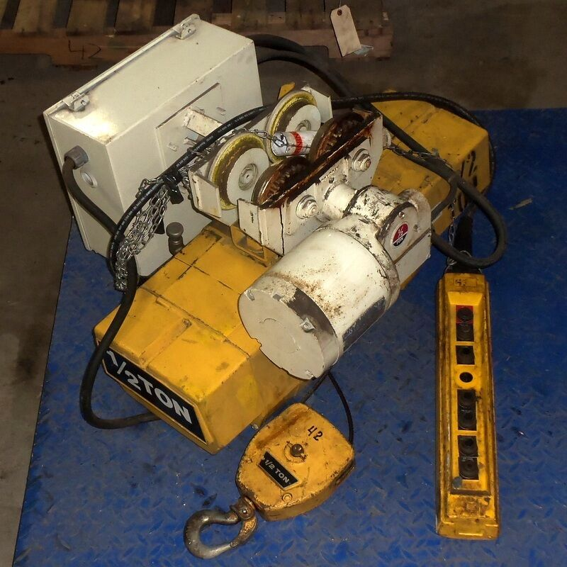 Yale 1 2 ton hoist w trolley 1 4hp coffing motor jl863 for 1 4 ton chain motor