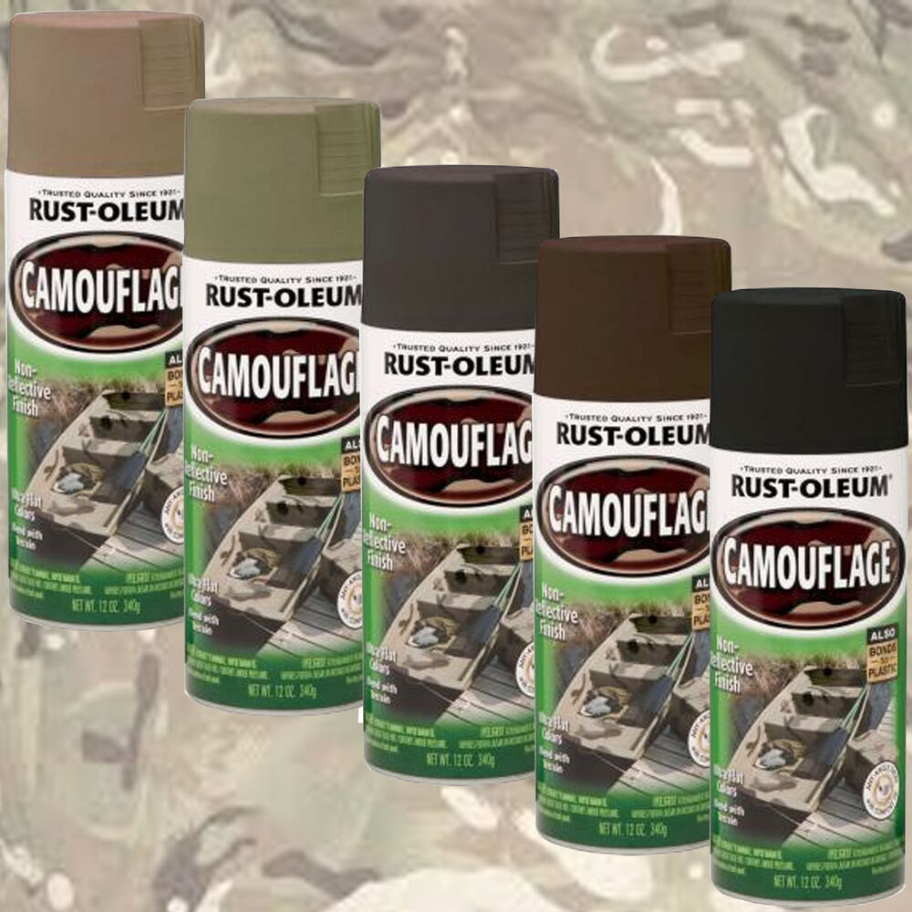 rust oleum camouflage ultra flat camo spray paint khaki green black. Black Bedroom Furniture Sets. Home Design Ideas