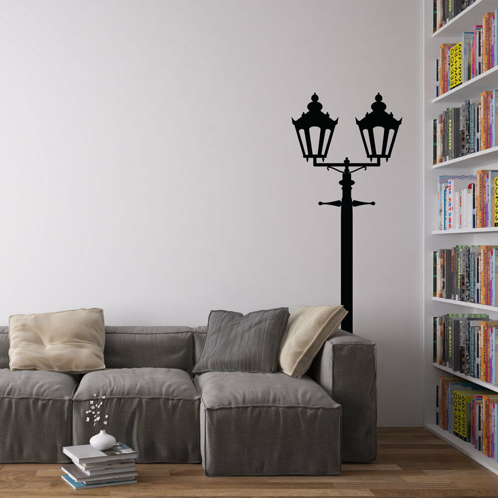Victorian double lamppost vinyl wall decal for home decor for Interior wall art
