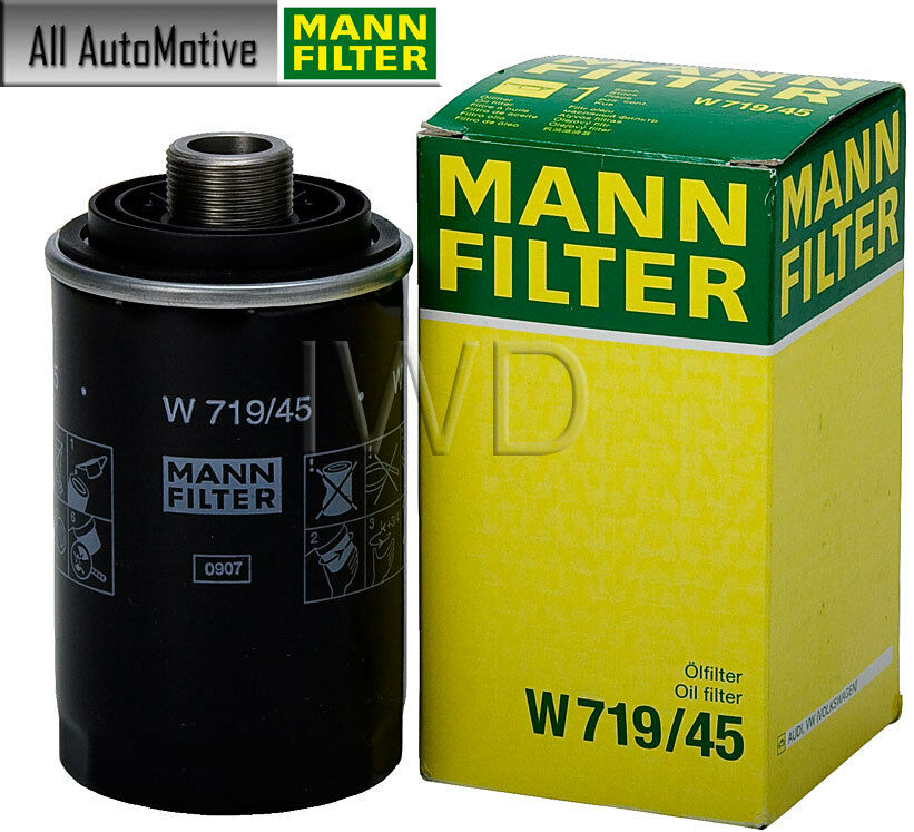 Oil filter fits audi a3 a4 tt q3 q5 2008 2016 mann w719 45 for Motor oil for audi q5
