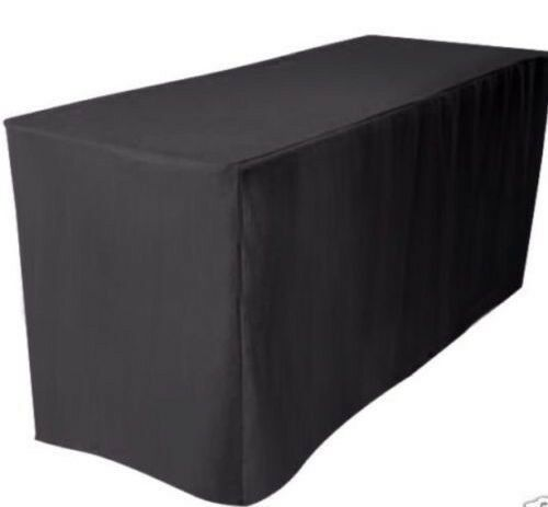 4 Ft Fitted Polyester Table Cover Wedding Banquet Event