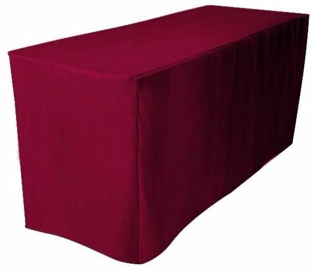 4 39 ft fitted polyester table cover trade show booth for 10 ft table cloth