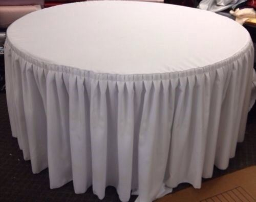 60 Quot In Round Table Skirt Cover Polyester W Top Topper