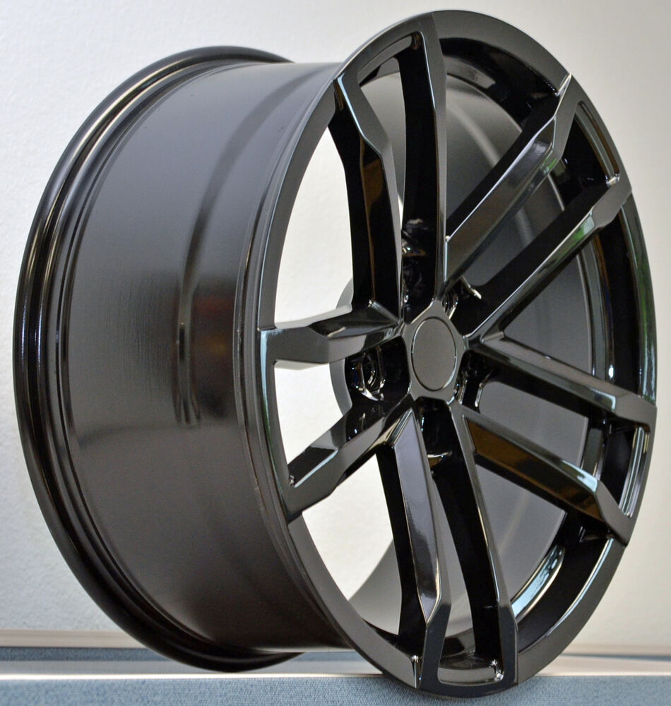 4 20x9 tires package gloss black camaro zl1 wheels rims. Black Bedroom Furniture Sets. Home Design Ideas
