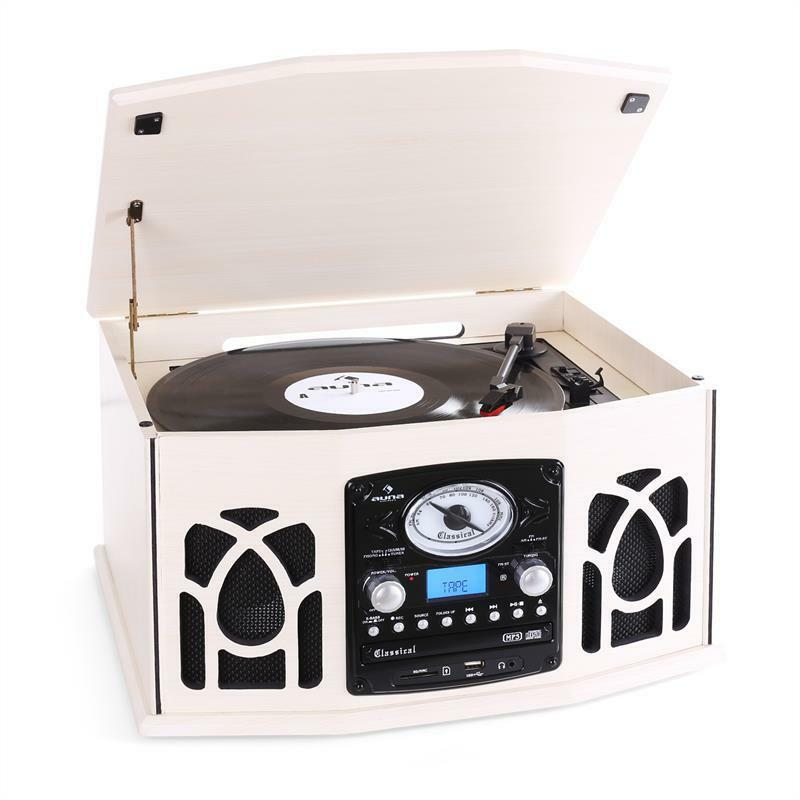 retro turntable cassette player mp3 cd stereo speaker system free p p uk offer ebay. Black Bedroom Furniture Sets. Home Design Ideas