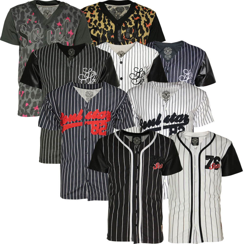 mens american baseball football soulstar t shirt fashion v neck top jersey bnwt ebay. Black Bedroom Furniture Sets. Home Design Ideas