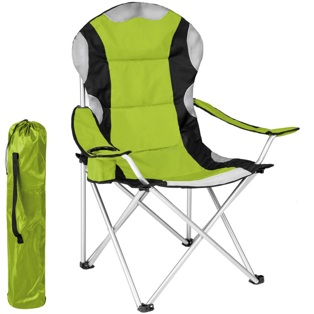 Heavy Duty Padded Folding Camping Directors Chair With Cup Holder Portable