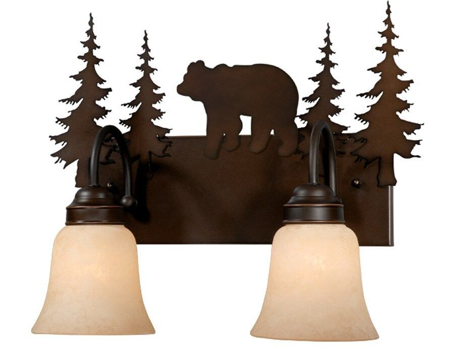 Bronze Sconce Wall Vaxcel Lighting Rustic Yellowstone Bozeman Bear VL55702BBZ eBay