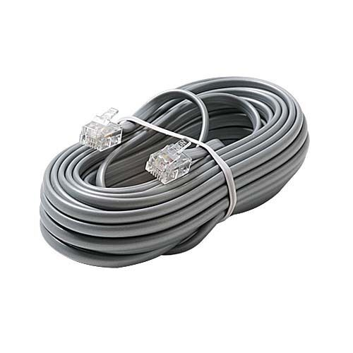 15 Wire Cable : Eagle ft phone cord cable wire silver satin modular