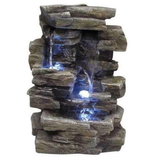 water fountain rock waterfall indoor outdoor tabletop relaxing desk