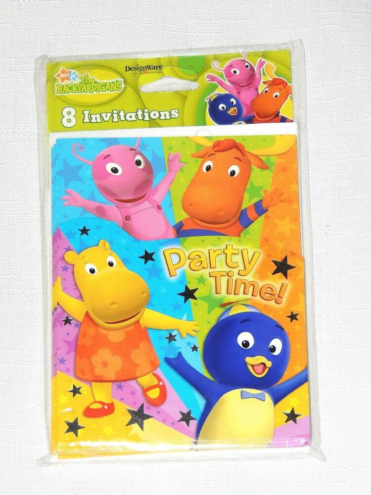 New backyardigans 8 invitations party supplies ebay for Backyardigans party decoration