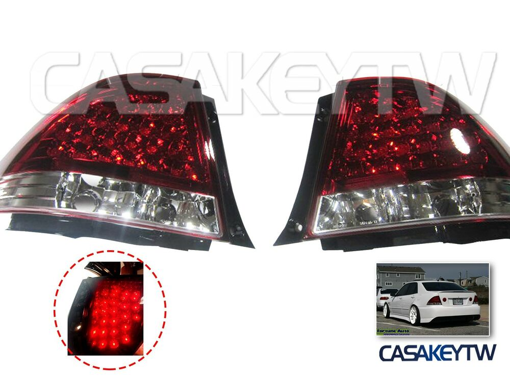 Lexus Is200 Is300 98 05 Led Red Clear Tail Lights Rear