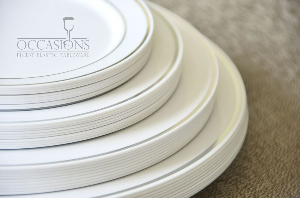 Wedding Party Disposable Plastic Dinnerware Round Plates Choose Size Amp