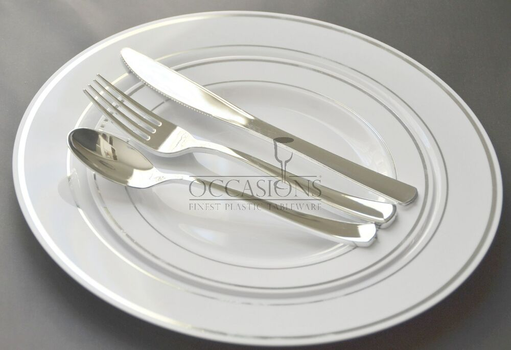 Bulk Wedding Party Disposable Plastic Plates And Silverware Masterpiece Sty
