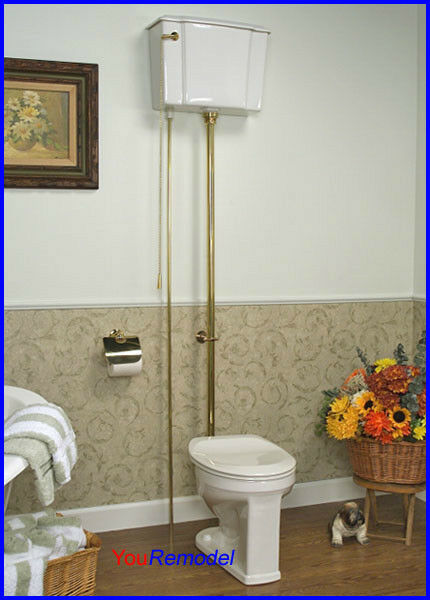 Barclay Victorian High Tank Toilet Commode Pull Chain In