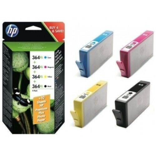 4 genuine hp 364 xl ink cartridges for deskjet 3520 3070a. Black Bedroom Furniture Sets. Home Design Ideas