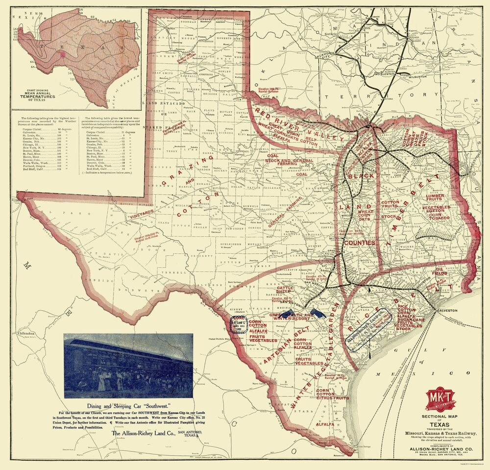 Full Map Of Texas.Old State Map Texas Farming Richey 1870 23 X 23 98 Ebay