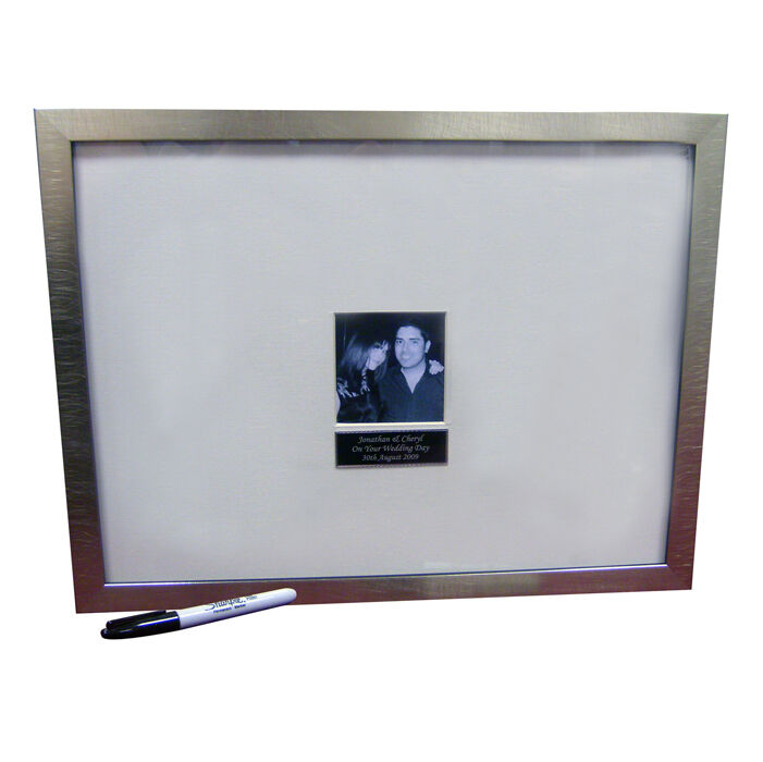 Personalised Signature Message Photo Frame Wedding Guest